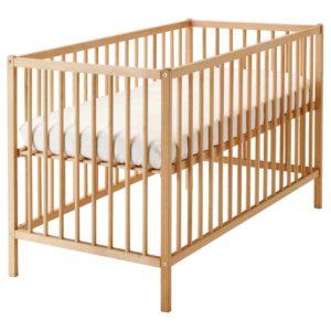 SNIGLAR Baby Crib (Beech)