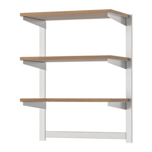 KUNGSFORS Suspension Rail with Shelf, Magnetic Knife Rack (Stainless Steel, Ash)
