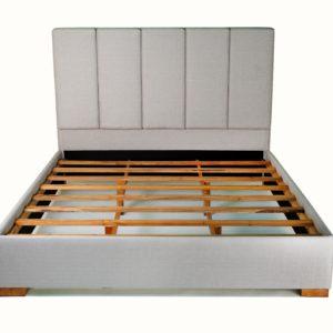 SHEENA Bed Frame King Size, Light Grey