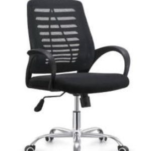 OFFICE Chair MCH17CC1 Chrome Frame (Black)