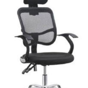 OFFICE Chair MCH19CC5 Chrome Frame (Black)