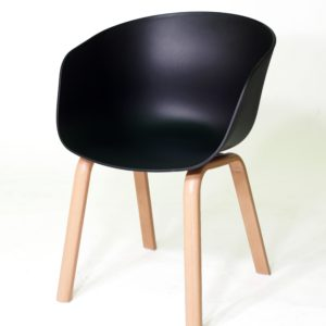 HAILEY Chair, Plastic Seat (Black)