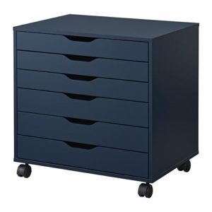 ALEX Drawer Unit on Castors (Blue)