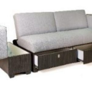 REICH Sofa Bed with Ottoman and Storage