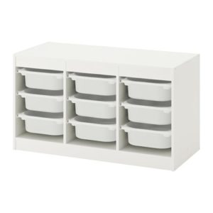TROFAST Storage Combination Low with Low Boxes (White)