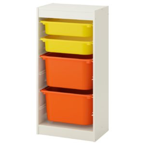 TROFAST Storage Combination Regular with Mid and Low Boxes (Yellow, Orange)