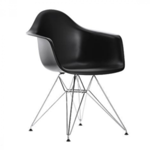 ROYCE Dining Chair Metal Legs (Black)