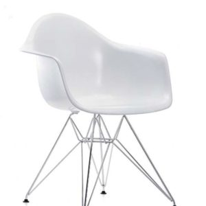 ROYCE Dining Chair Metal Legs (White)